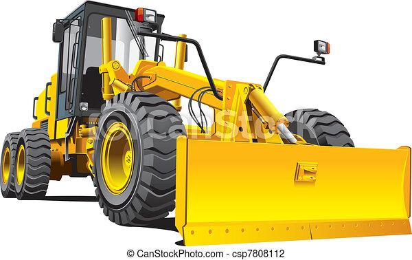 yellow roadgrader - csp7808112