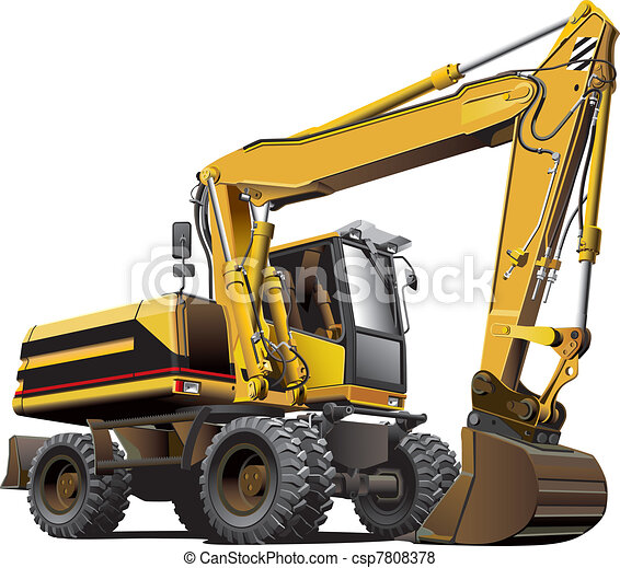 light-brown excavator - csp7808378