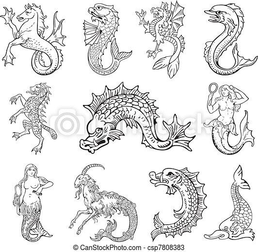 Heraldic monsters vol VI - csp7808383