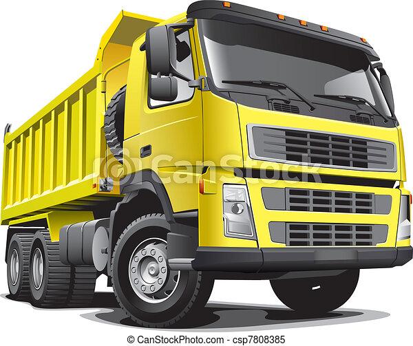 lagre yellow truck - csp7808385