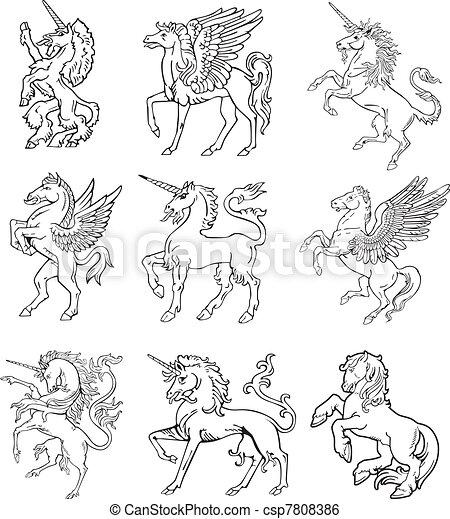 Heraldic monsters vol IX - csp7808386