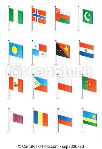 Flag icon set (part 9) - csp7808773