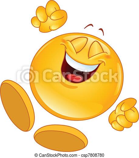 Cheerful emoticon - csp7808780