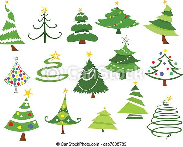 Christmas trees - csp7808783