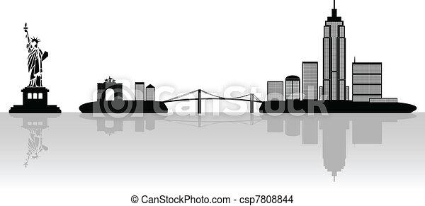 New York illustration - csp7808844