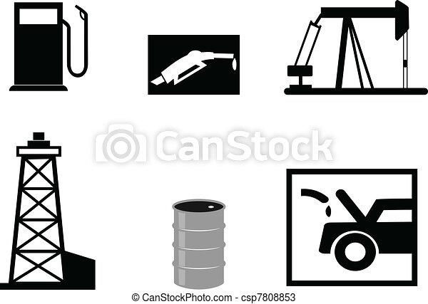 petrol vector illustrations  - csp7808853