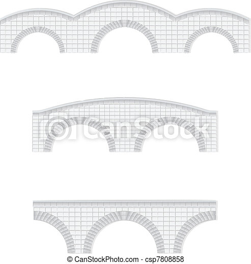 stone bridges vector illustration - csp7808858
