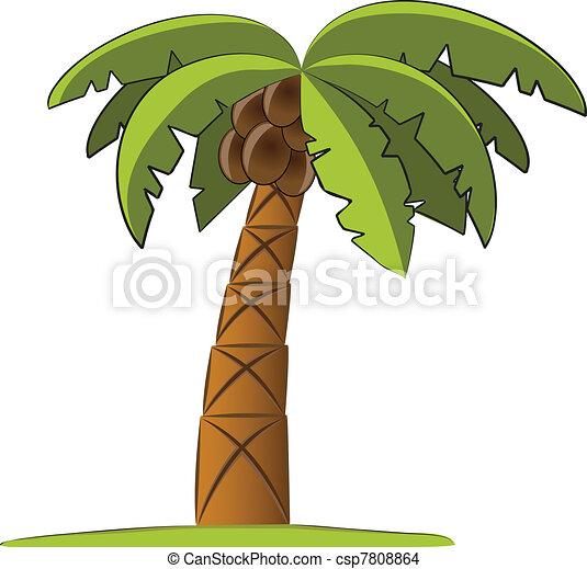 Palm tree vector illustration - csp7808864