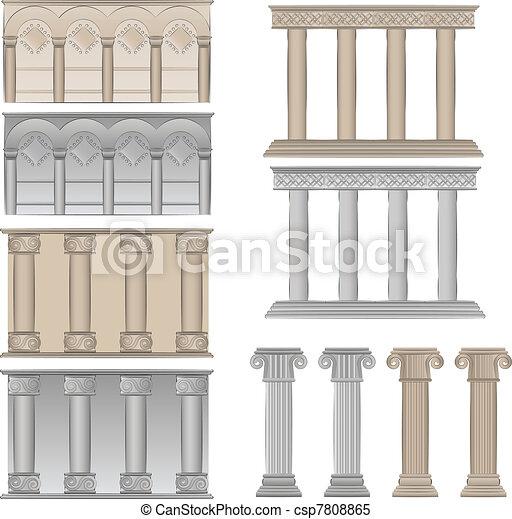Clipart vectorial de pilares columnas pilares y for Pilares y columnas