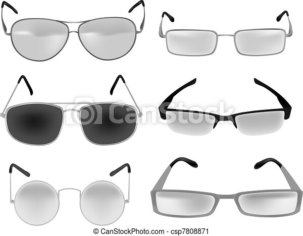 glasses and spectacles vector  - csp7808871