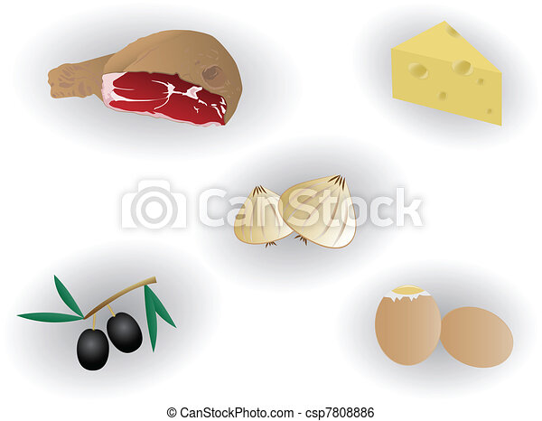 delicious food illustration - csp7808886