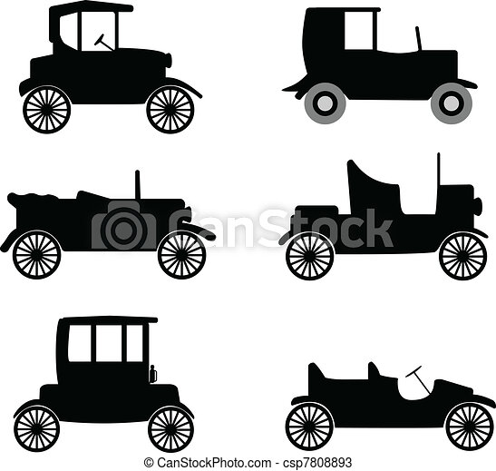 old timer cars illustration - csp7808893