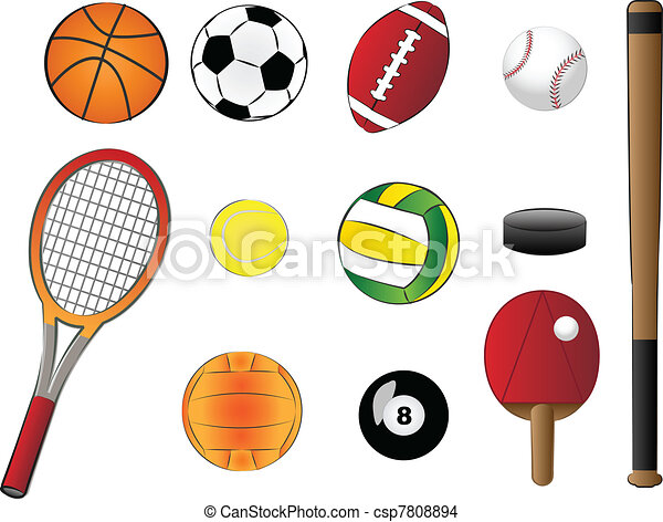 Equipment Drawing Vector Sports Equipment