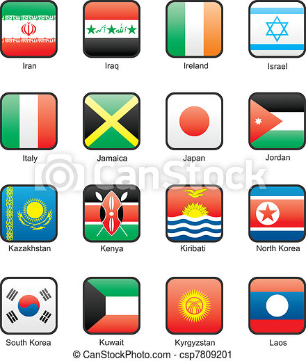 Flag icon set (part 6) - csp7809201
