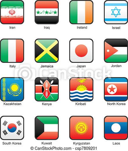 Flag icon set (part 6) - csp7809201