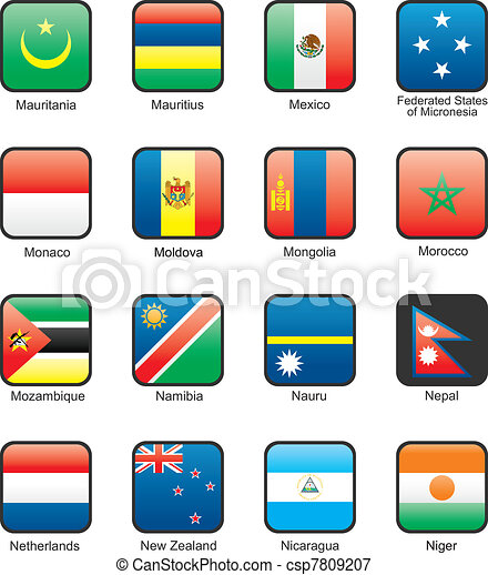 Flag icon set (part 8) - csp7809207