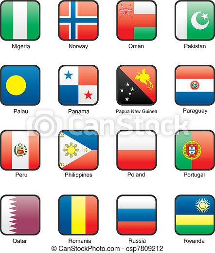 Flag icon set (part 9) - csp7809212