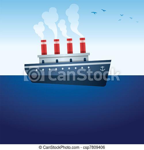 Steam Ship - csp7809406