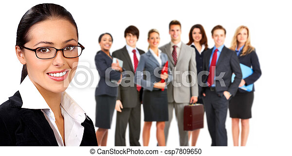 Business woman and group of people. - csp7809650