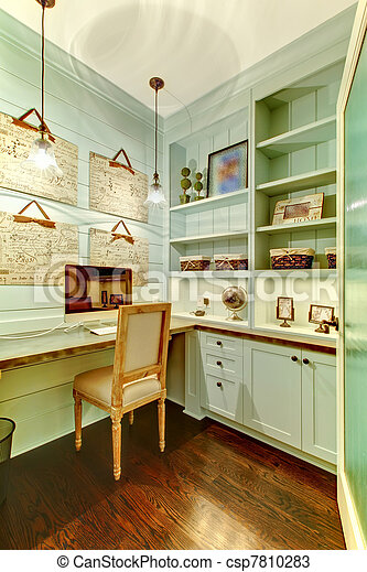 Small room - home office in the closet. - csp7810283