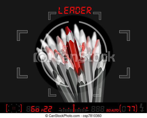 Pencils leader metaphor - csp7810360