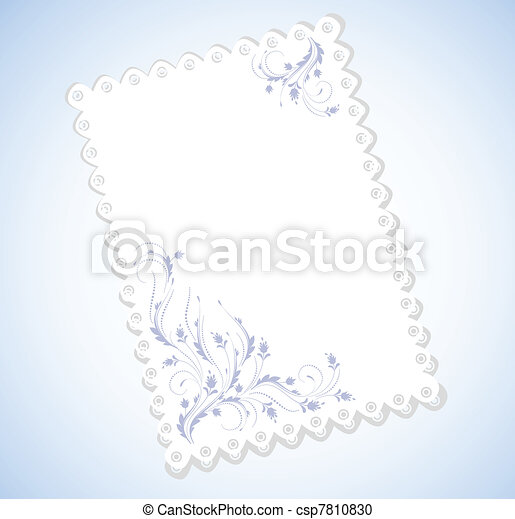 Cloth with lace edges with ornament - csp7810830