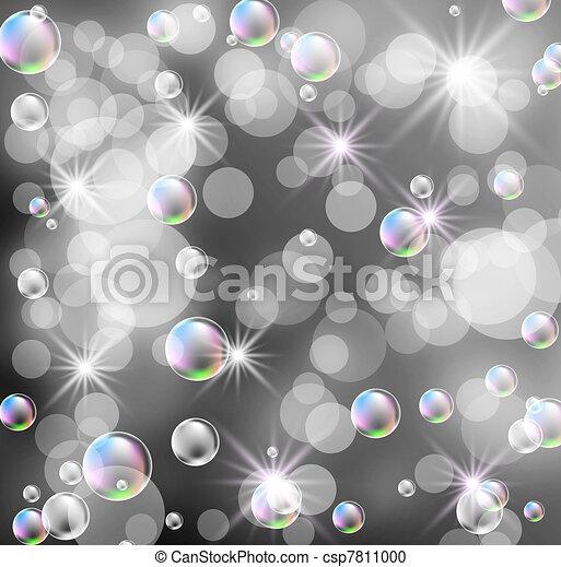 Bokeh, bubbles and stars