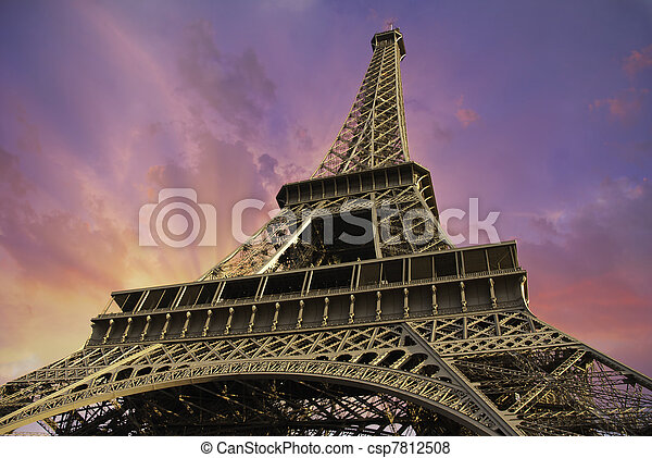 Eiffel Tower from Below, Paris - csp7812508