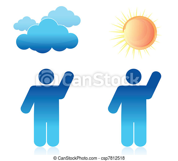 Weather sunny and cloudy - csp7812518