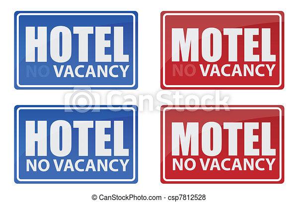 Retro Hotel and Motel signs - csp7812528