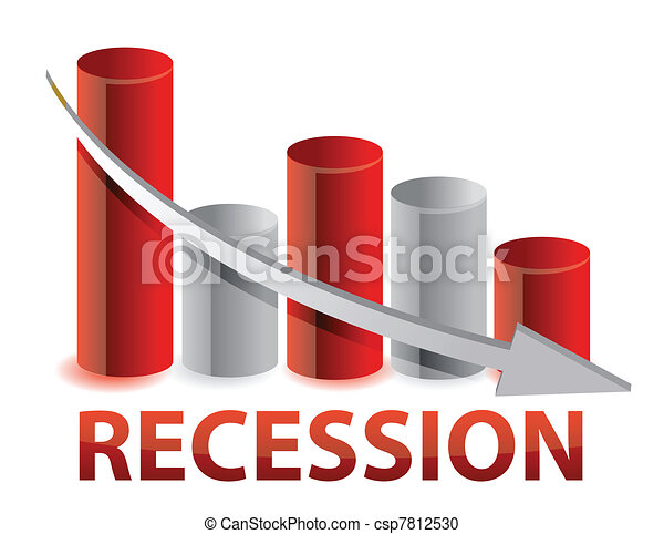 recession red business graph - csp7812530