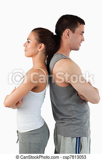 Portrait of a competitive couple - csp7813053