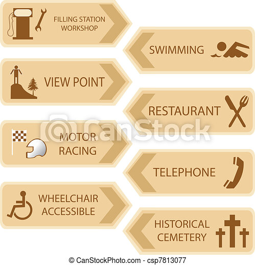 tourist locations icon - csp7813077