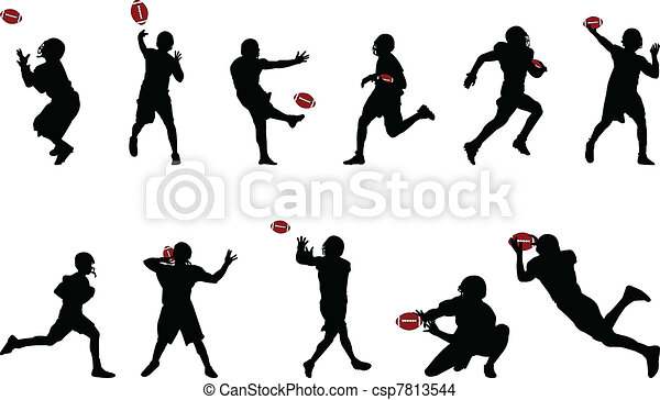 american football silhouettes - csp7813544