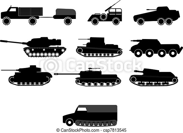 tank and war machine vehicles  - csp7813545