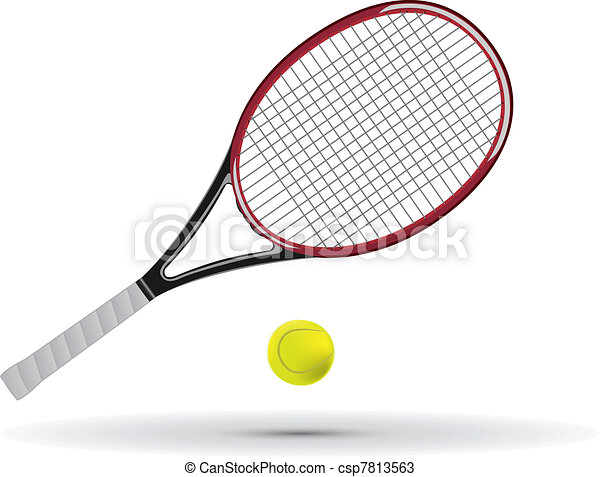 of Tennis racket and ball vector illustration csp7813563 - Search Clip ...