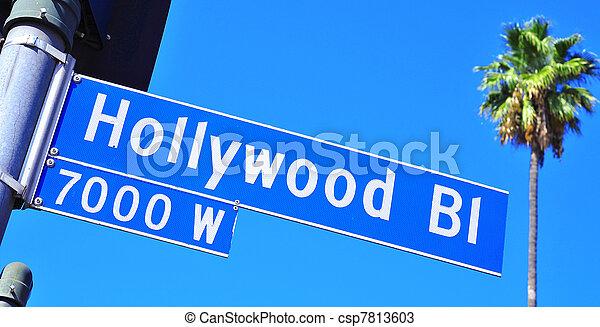 Hollywood Boulevard sign - csp7813603