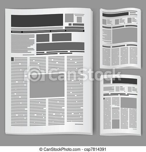 Set number two newspaper - csp7814391