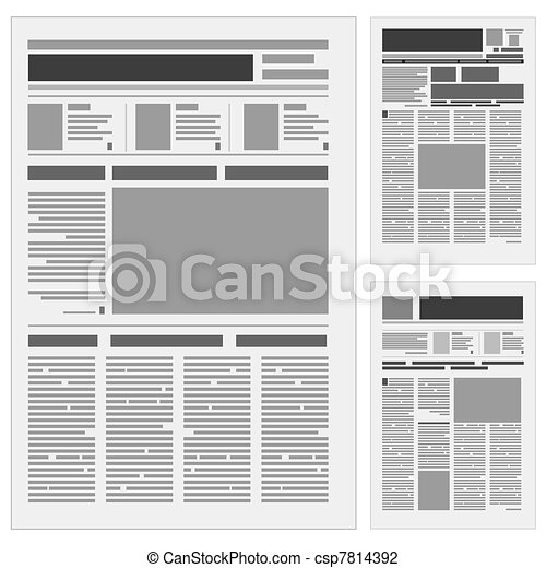 Set the number one newspaper - csp7814392
