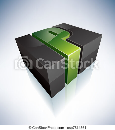 Three-dimensional P Letter - csp7814561