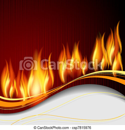 Background with flame - csp7815976