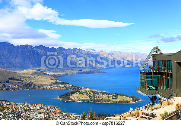 Queenstown downtown with the remarkable range - csp7816227