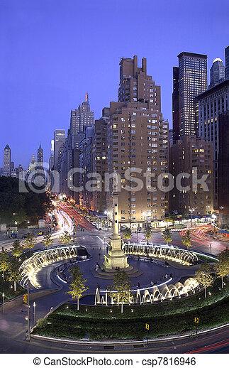 Columbus Circle New York City - csp7816946