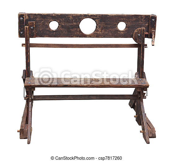medieval pillory - csp7817260