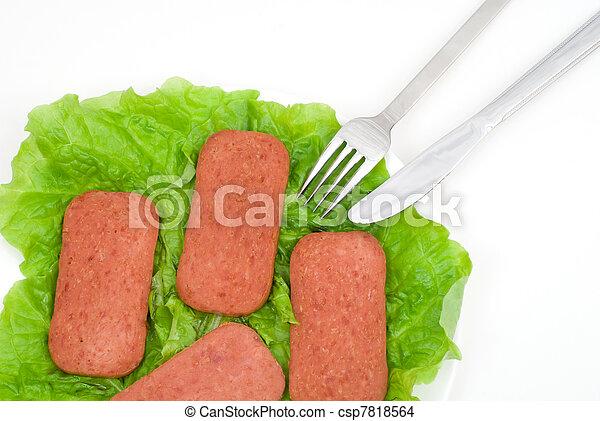 Luncheon meat - csp7818564