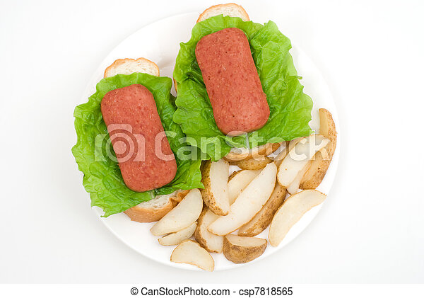 Luncheon meat - csp7818565