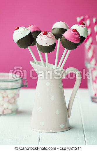 Cupcake cake pops - csp7821211