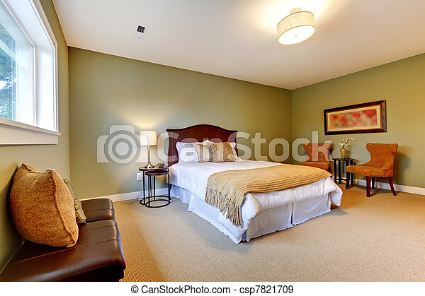 Large new green bedroom well furnished. - csp7821709