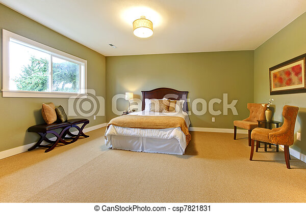 Large new green bedroom well furnished. - csp7821831