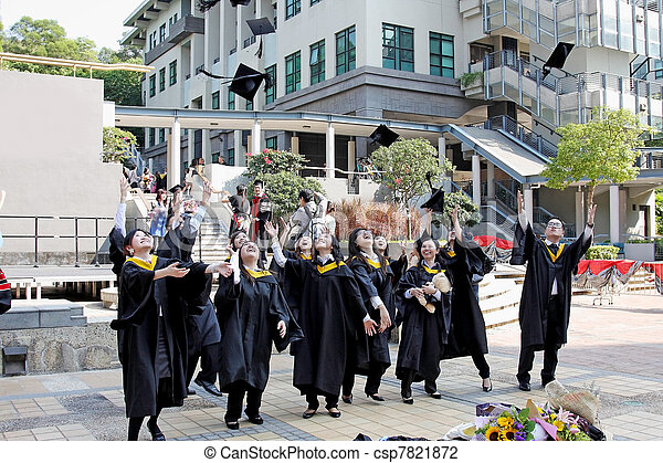 University students graduate with happiness - csp7821872
